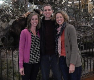 Look closely and you'll see the bear behind us. This is me with my sister and brother (and the bear).