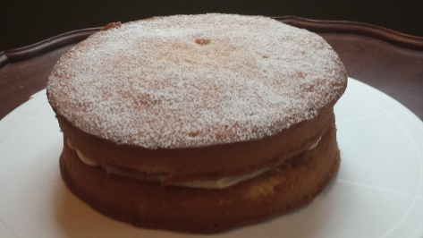 My neighbor Sam's famous Victorian sponge cake!